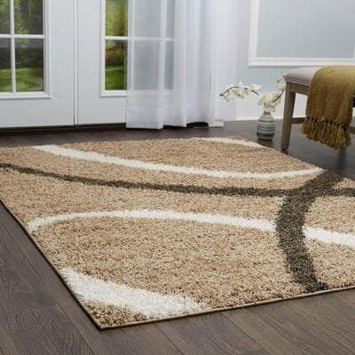 Synergy Beige/Off White 9 ft. x 12 ft. Indoor Area Rug