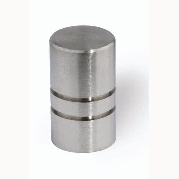 Siro Designs 1 2 In Fine Brushed Stainless Steel Cabinet Knob Hd 44 338 The Home Depot