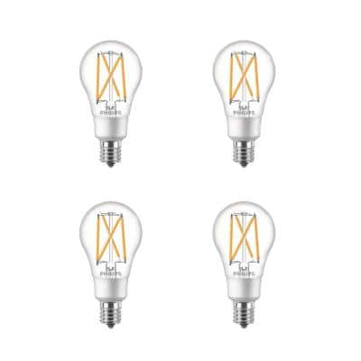 60-Watt Equivalent A15 Dimmable Intermediate Base LED Light Bulb Soft White with Warm Glow Dimming Effect (4-Pack)