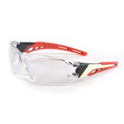 React 111 Red Safety Glasses, TruGlow Technology - ANSI Compliant