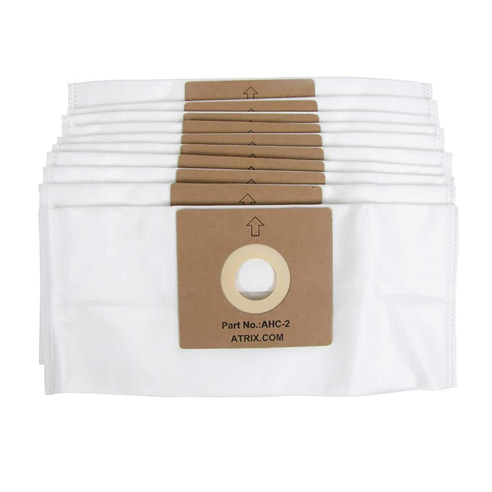 Atrix International Hepa Bags For Ahc1 In White 10 Pack Ahc2 The Home Depot