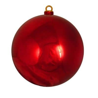 Shiny Red Hot Commercial Shatterproof Christmas Ball Ornament