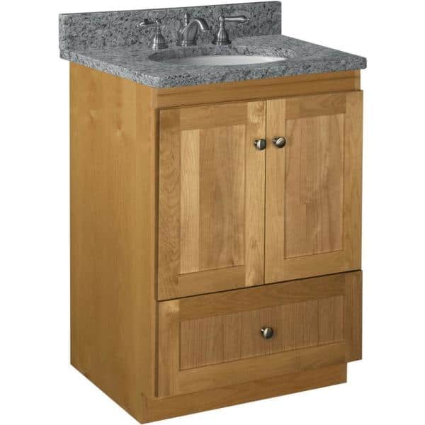 Simplicity By Strasser Shaker 24 In W X 21 In D X 34 5 In H Simplicity Vanity With No Side Drawers In Natural Alder 01 165 2 The Home Depot