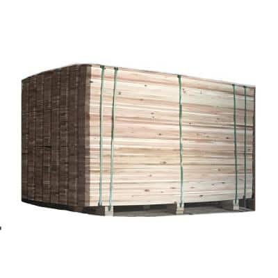 5/8 in. x 5-1/2 in. x 6 ft. Premium Select Quality Japanese Red Cedar Fence Pickets Dog-Ear, Full Pallet (560-Pickets)