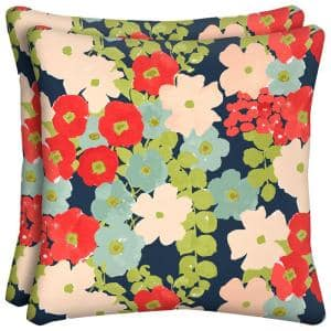 Francesa Floral Outdoor Throw Pillow (2-Pack)