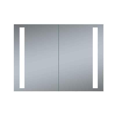 Double Door Melania 40 in. x 26 in. LED Recessed Medicine Cabinet