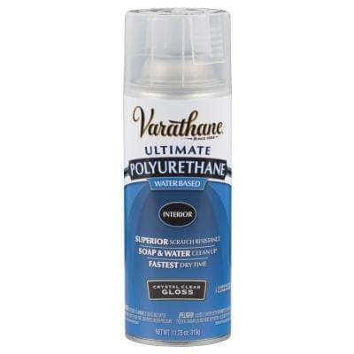 11.25 oz. Clear Gloss Water-Based Interior Polyurethane Spray Paint