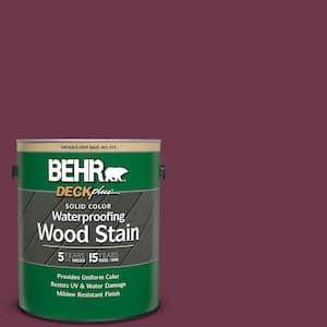 1 gal. #PPU1-14 Formal Maroon Solid Color Waterproofing Exterior Wood Stain