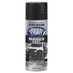 11 oz. Peel Coat Rugged Coat Black Peelable Rubber Coating Spray Paint (6-Pack)