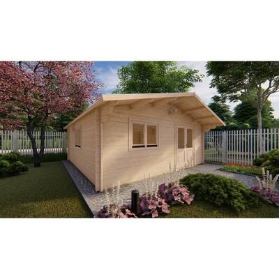 19 ft. x 19 ft. Multi-Room Log Cabin D.I.Y. Building kit