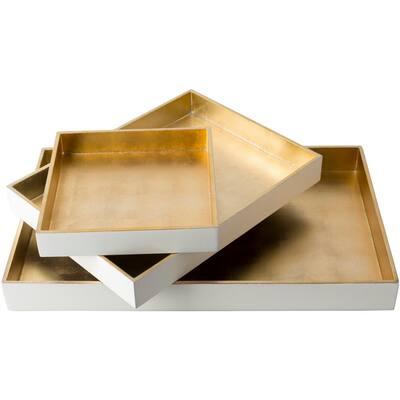 Yradi Wheat 3-Piece Decorative Tray Set