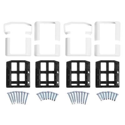 Vanderbuilt/Delray/Bellaire/Vilano White Straight Railing Bracket Kit (4-Piece)