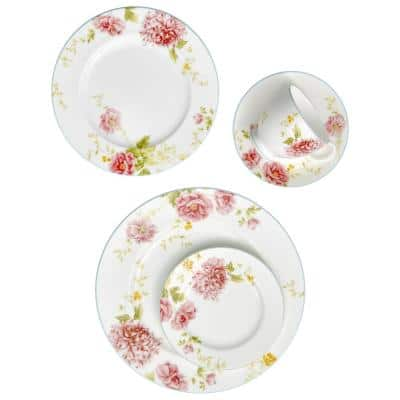 Peony Pageant White Bone China Saucer 6 in.
