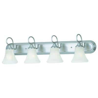 Elipse 4-Light Brushed Nickel Wall Vanity Light