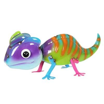 Metal Colorful Chameleon Statue