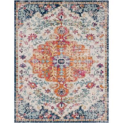 Demeter Ivory 8 ft. x 10 ft. Abstract Area Rug
