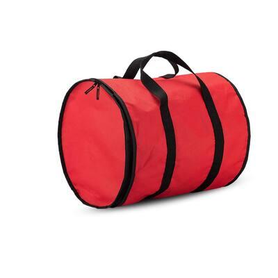 15 in.Red Polyester 600 Denier Christmas Light Storage Bag(300-Light Bulbs)
