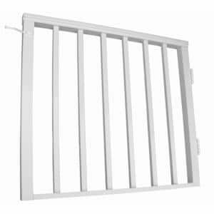 36 in. x 42 in. White Pre-Built Aluminum Single Panel Walk Through Gate with 1 in. Square Balusters