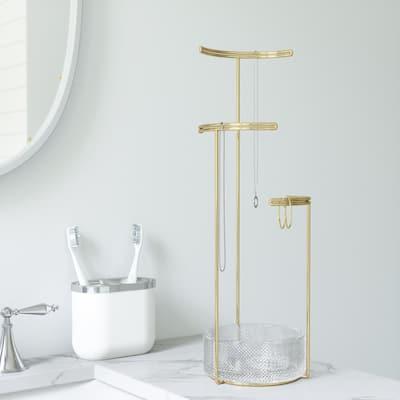 Tesora Brass Jewelry Stand