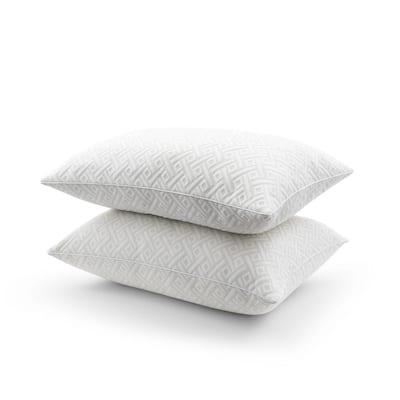 Luxury Knit Memory Foam Jumbo Pillow Set of 2