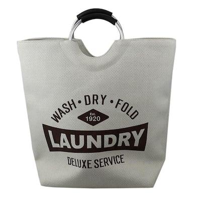 Natural Canvas Laundry Tote Bag