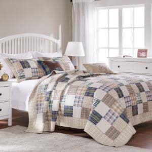 Oxford 3-Piece Multicolored King Quilt Set
