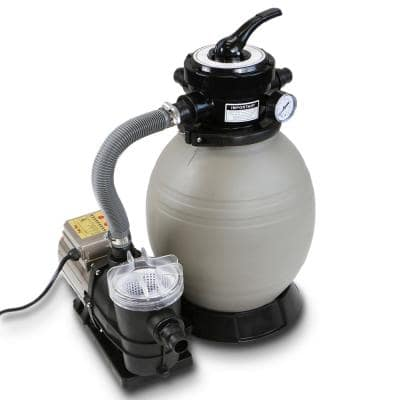 13 in. 1.25 sq. ft. 3/4 HP 2640 GPH Above Ground Self-Priming Sand Filter Pool Pump System with Digital Timer