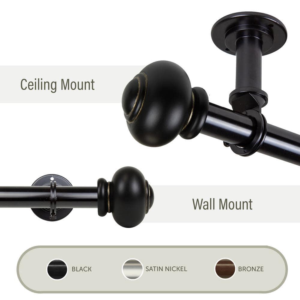 InStyleDesign Pita 1 inch Diameter Ceiling Curtain Rod// Room