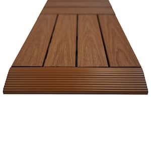1/6 ft. x 1 ft. Quick Deck Composite Deck Tile Straight Fascia in Honduran Mahogany (4-Pieces/Box)