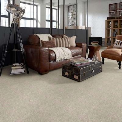 Perfectly Posh - Color Almond Bark Pattern Beige Carpet