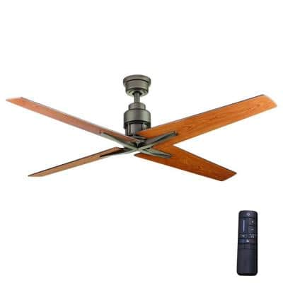 Virginia Highland 56 in. Indoor Espresso Bronze Ceiling Fan with Remote Control