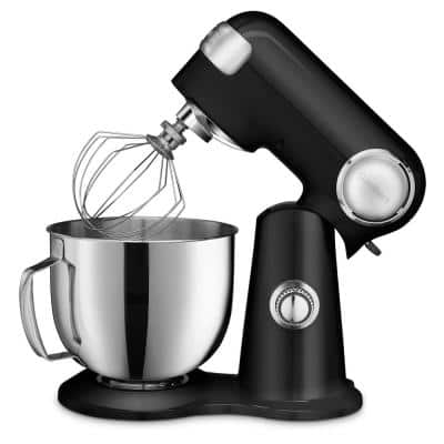 Precision Master 5.5 Qt. 12-Speed Black Stand Mixer with Accessories
