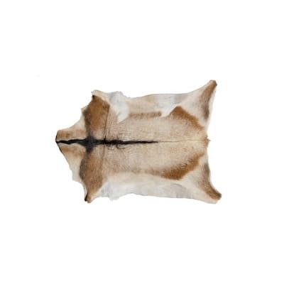 Calfskin Tan/White 2 ft. x 3 ft. Animal Print Area Rug