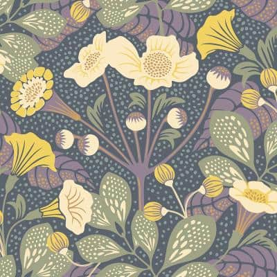 Tropisk Multicolor Floral Paper Strippable Roll Wallpaper (Covers 57.8 sq. ft.)