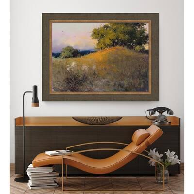 38.5 in. x 48.5 in. 'Evening Splendor' by HC Zachary Fine Art Canvas Framed Print Wall Art
