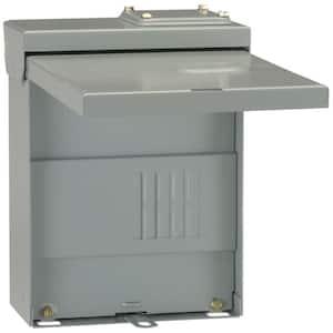 PowerMark Plus 70 Amp 2-Space 4-Circuit Outdoor Single-Phase Main Lug Circuit Breaker Panel