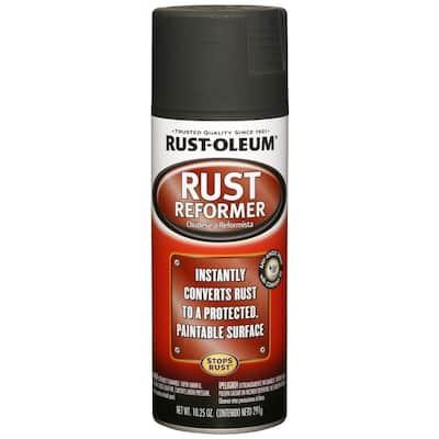 10.25 oz. Rust Reformer Flat Black Spray Paint