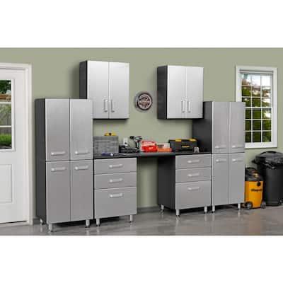 Metallic Series 90 in. H x 118 in. W x 21 in. D 9-Piece Complete Garage Storage System