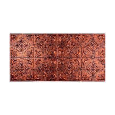 Traditional #2 2 ft. x 4 ft. Glue Up Vinyl Ceiling Tile in Moonstone Copper (40 sq. ft.)