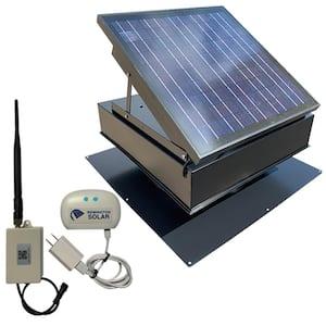 40-Watt Wi-Fi 1,875 CFM Black Roof Mount Solar Attic Fan