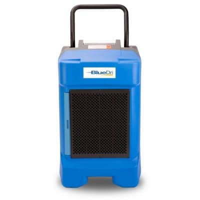 225-Pint Commercial Dehumidifier in Blue for Water Damage Restoration Mold Remediation