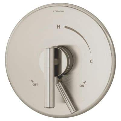 Dia 1-Handle Shower System Trim Kit in Satin Nickel (Valve not Included)