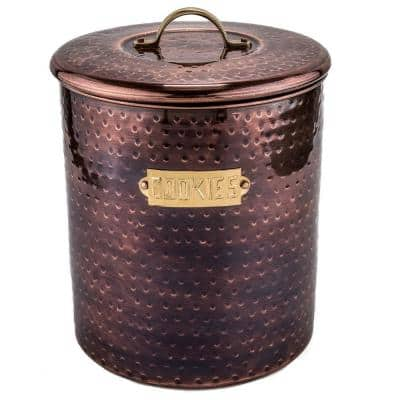 Hammered Antique Copper Cookie Jar