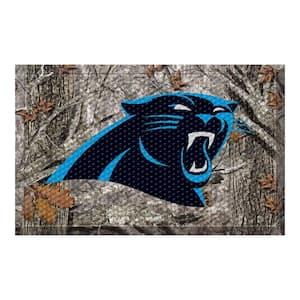 NFL - Carolina Panthers 19 in. x 30 in. Outdoor Camo Scraper Mat Door Mat