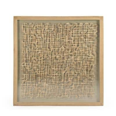 Abstract Wavy Paper Framed Wall Art
