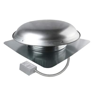 1080 CFM Mill Galvanized Steel Power Attic Roof Ventilator