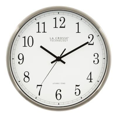 12 in. Atomic Analog Metal Wall Clock
