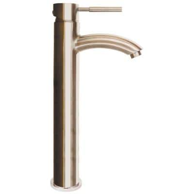 Neo Single Hole Single-Handle Bathroom Faucet with Drain Assembly in Brushed Nickel