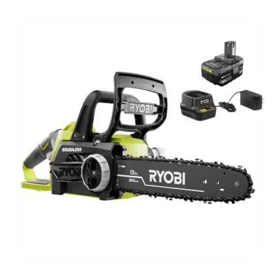 ONE+ 18V Brushless 12 in. Cordless Battery Chainsaw with 4.0 Ah Battery and Charger