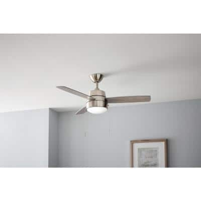 Caprice 44 in. Integrated LED Indoor Brushed Nickel Ceiling Fan with Light Kit